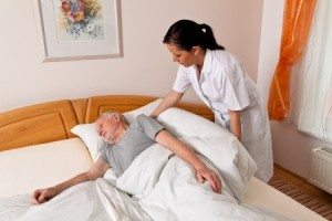 Nursing home image nurse with resident